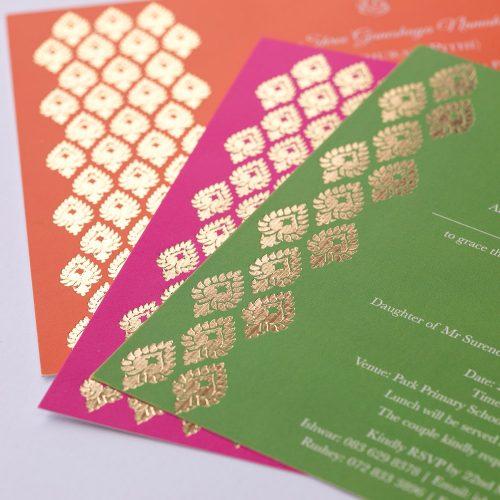 Bespoke wedding invitations